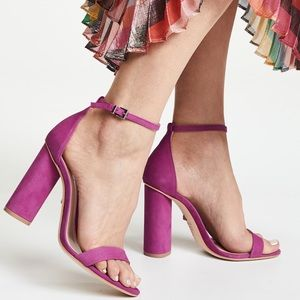 Schutz Jeannine Grape Purple Block Sandal 8